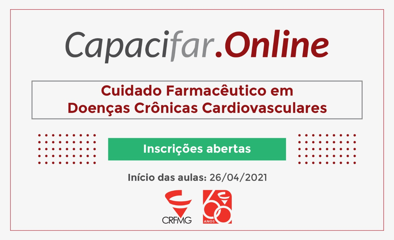 Inscrições abertas para o curso Cuidado Farmacêutico em Doenças Crônicas Cardiovasculares